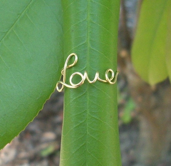14k Gold LOVE Ring