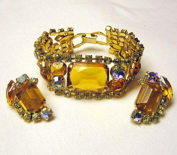 Reverse-Set Vintage Topaz Bracelet and Earring Demi