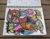 "Original Drawing - 8 1/2"" x 12"""
