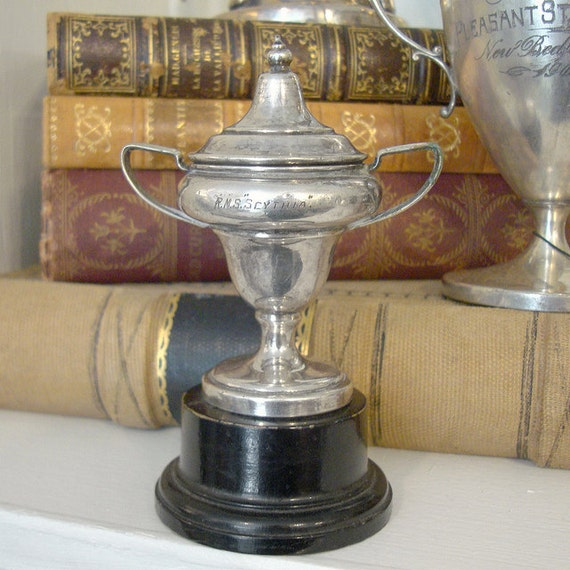 Small Vintage Silver Lidded Trophy Cup