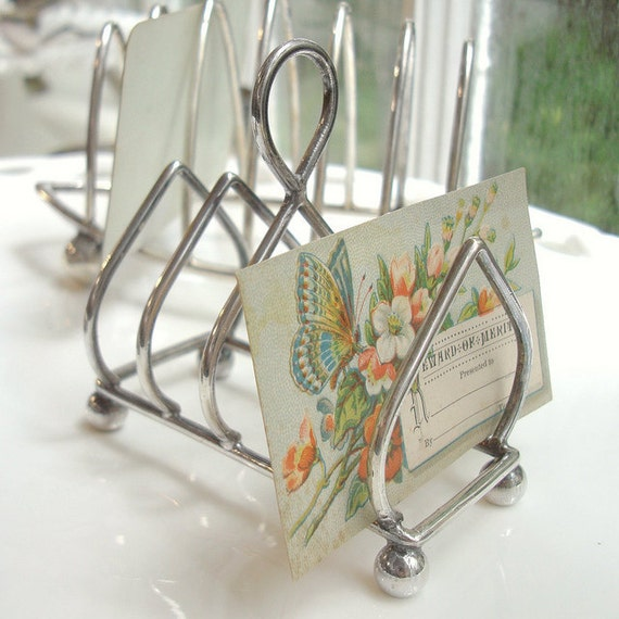 Tiny Vintage English Silver Toast Rack