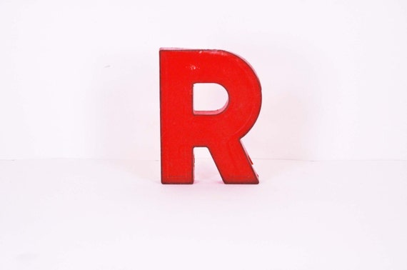 Marquee Letter - R in Red