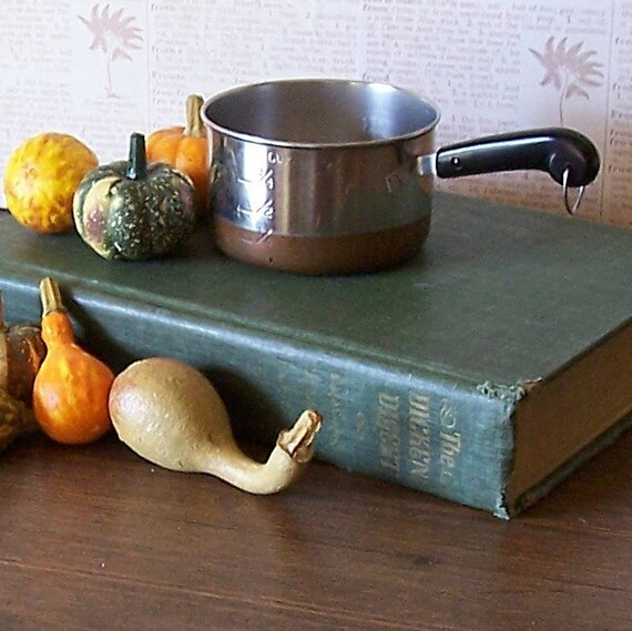 Vintage Revere Ware Mini Saucepan Measuring Cup with Copper Bottom