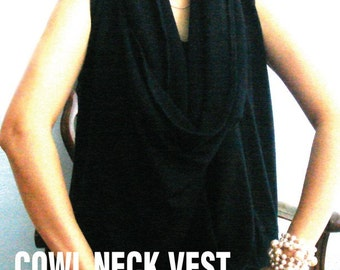 NEW-Cowl Neck Vest (PDF Patterns and instructions)