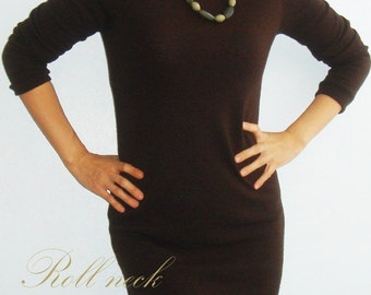 Roll Over Sweater Dress vs. Top(PDF Patterns and instructions)
