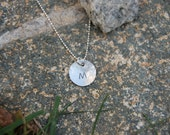 Personalized Sterling Silver Initial Charm Necklace