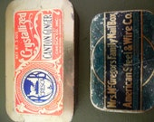 Vintage Tiny Tins Set of Two Great Graphics