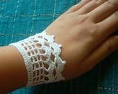 PDF Pattern--Crochet Mesh Cuff