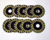 Vintage Number Dials for Assemblage Art - Lot of 10