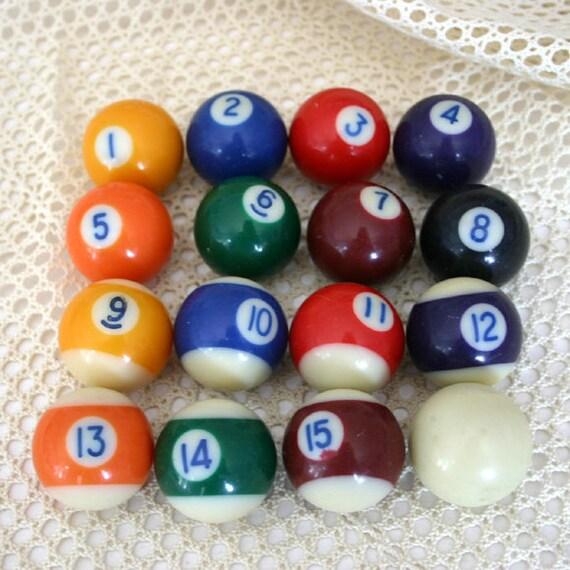 mini billiard ball set small pool balls. Black Bedroom Furniture Sets. Home Design Ideas