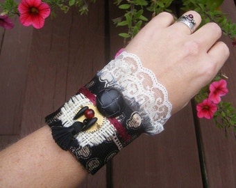 All Dressed Up in Ribbons and Bones - Steampunk, Gothic Cuff