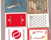 Vintage Collectible Airline Playing Cards-Various Airlines-Mostly USA Airlines-Collectible paper