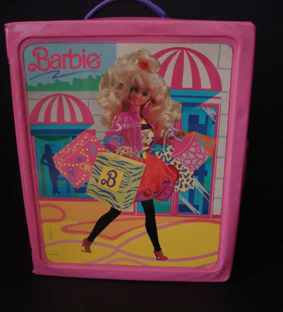 Vintage 1963 Barbie Carrying Case SPP Mattel Yellow Flair Coat 16