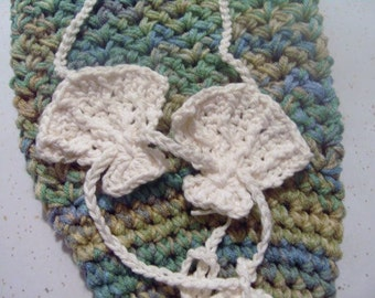 Crocheted Adjustable Mermaid Shell Top Toddler to Child Size Your Color Choice