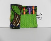 Crayon Roll in unique African Fabric