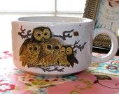 Owl Family Soup Mug