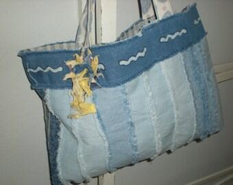 Handmade Denim Tote or Purse.