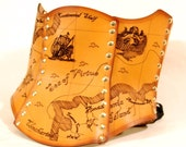 Hard Leather Treasure Map Corset - Custom