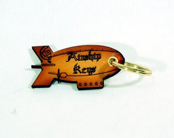 "Leather ""Airship Keys"" Keyring"