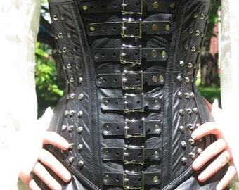 "Leather ""Valerious"" Underbust Corset"