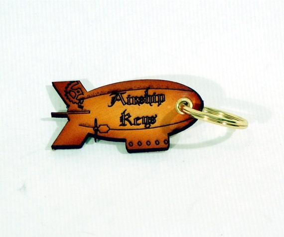"Leather ""Airship Keys"" Keyring"