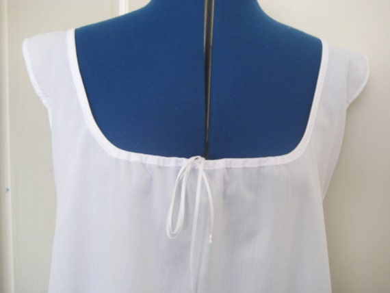 Regency Chemise/Shift. Victorian, Edwardian. SLEEVELESS Cotton. MADE to MEASURE.