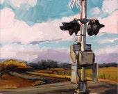 Quiet Crossing -- original oil painting