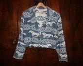 90s- Vintage SOUTHWESTERN Cropped Adobe Rose Jacket - Size M L