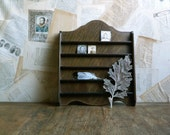 slim wooden tchotke display shelves