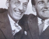 vintage photobooth photograph - happy chaps