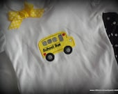Made to Order BAck to School ruffled pants and School Bus Tee Shirt Sizes 4T, 5T, 6/7