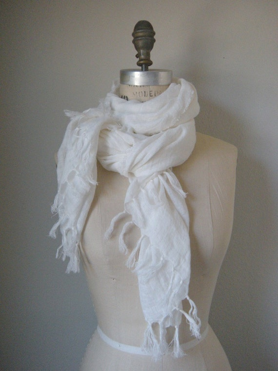 the  marthe washed linen scarf
