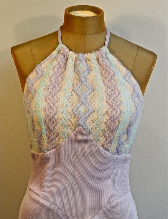 Early 70s Lavender Halter Maxi