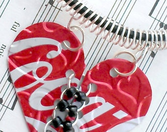 Teen Gift - Tween Jewelry Coca Cola Recycled Soda Can Heart Necklace R28 Sale Jewelry Flash- N10