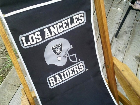 Los Angeles Raiders Wooden Canvas Folding By Absolutejewelry