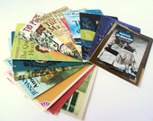 Unique Stationery Letter Writing Note Paper made from Upcycled Vintage Book Dust Jackets Set of 50  Eco Friendly