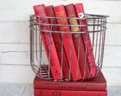 Red Books Instant Library Collection Vintage Books by Color Photography Props Decorative Books Love Stories