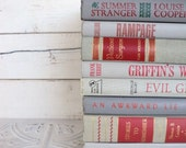 Shades of Gray Instant Library Book Collection by Color Bundle Vintage Decorative Books Photography Props Grey