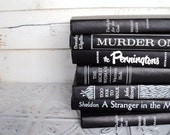 Black & White Instant Library Book Collection By Color Vintage Decorative Books Photography Props