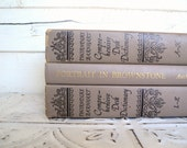 Mocha Brown Books Instant Library Collection Vintage Decorative Book Bundle Photography Props Coffee, Tan, Black