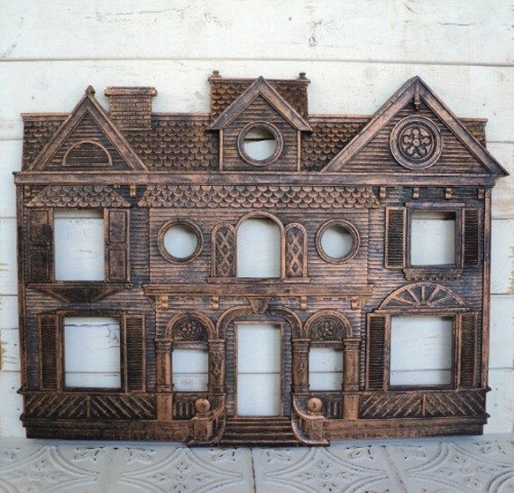 Coppercraft Guild Wall Hanging Mansion House Vintage 9201 1979