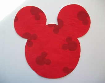 DIY No-Sew Minnie Mickey Mouse Applique - Iron On