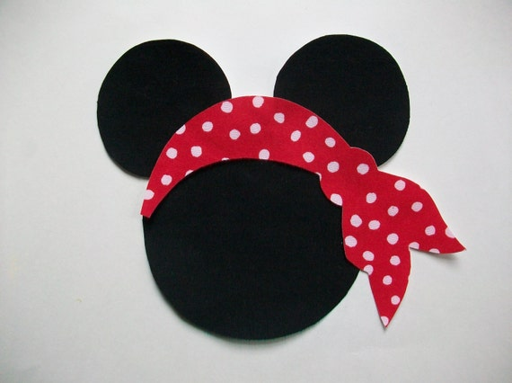 DIY No-Sew Minnie/Mickey Mouse and Pirate Scarf Applique - Iron On