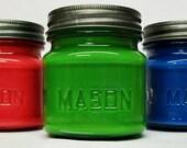 3 u pick  8 oz. Soy Candles in a Primitive Mason Jar