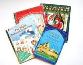 Helen Steiner Rice Christmas Classics and Three Golden Books, Vintage Christmas, Childrens