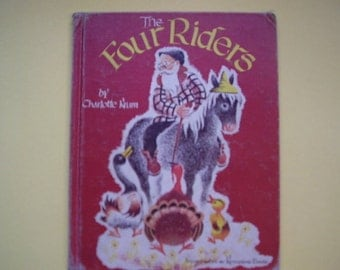1953 Vintage Children's Book, The Four Riders