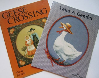 Craft Books, Goose Theme Painting Patterns, Take a Gander and Geese Crossing, Vintage