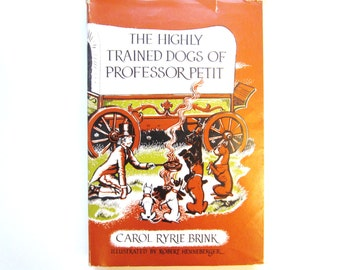 The Highly Trained Dogs of Professor Petit, a Vintage Children's Book