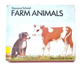Farm Animals, a Vintage Childrens Board Book