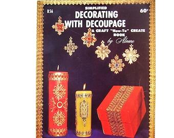Decoupage Book, Vintage Craft